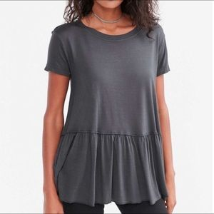 Truly Madly Deeply Tops - Truly Madly Deeply peplum tee • Urban Outfitters